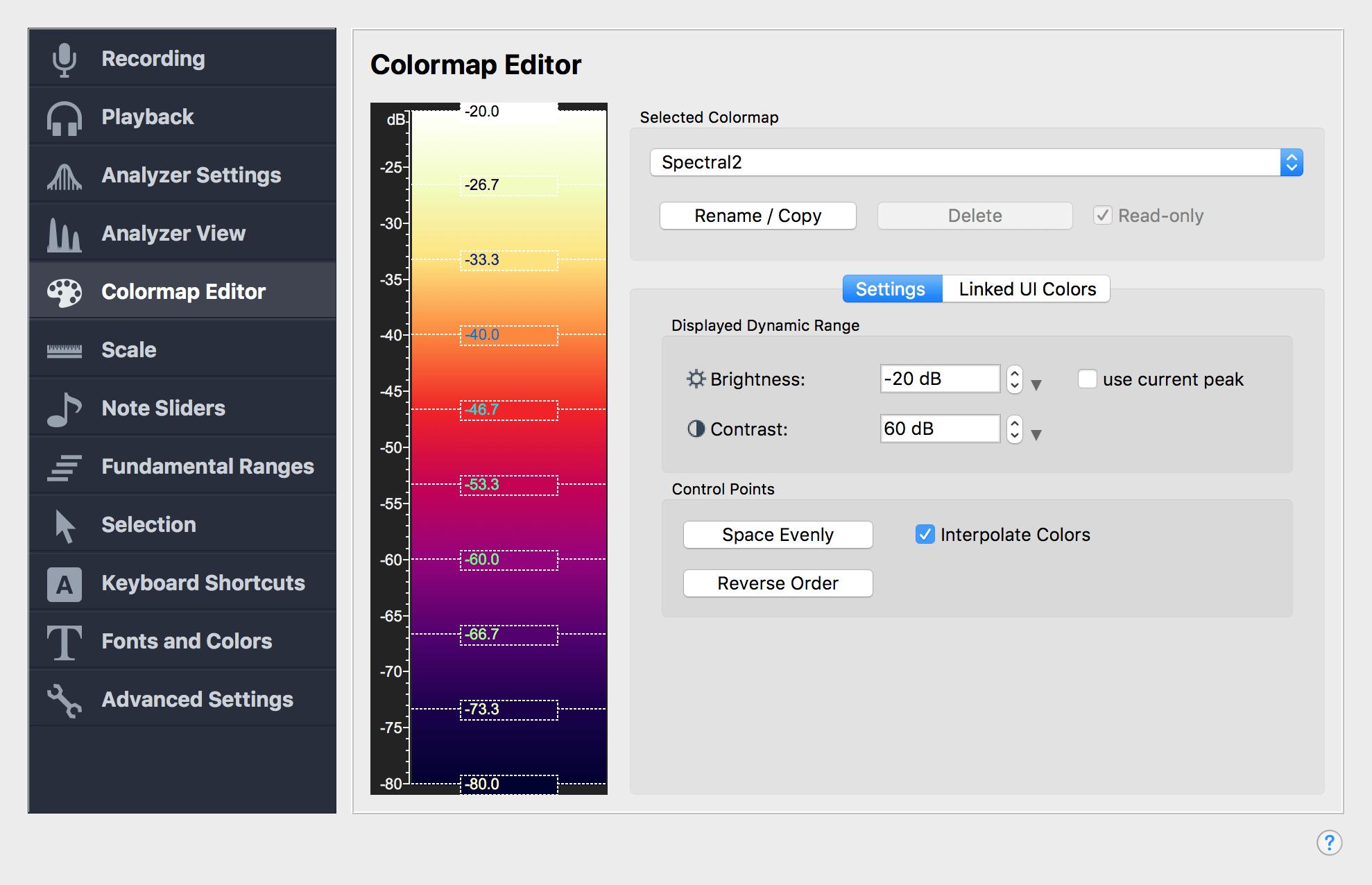 Colormap Editor