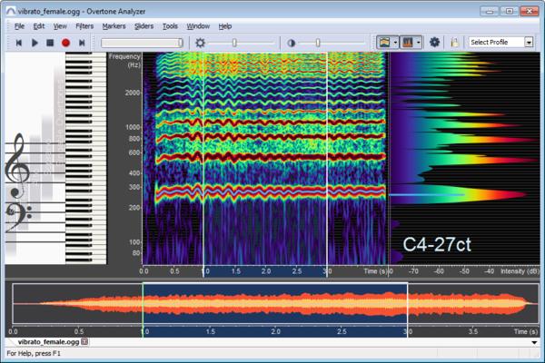 Displaying Spectrogram and Spectrum