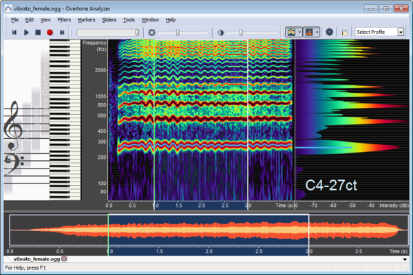 Displaying Spectrogram and Spectrum